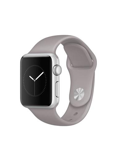 Jacobson Jacobson Apple Watch 42-44 Mm Kordon Spor Kayışı Yumuşak Silikon Gri